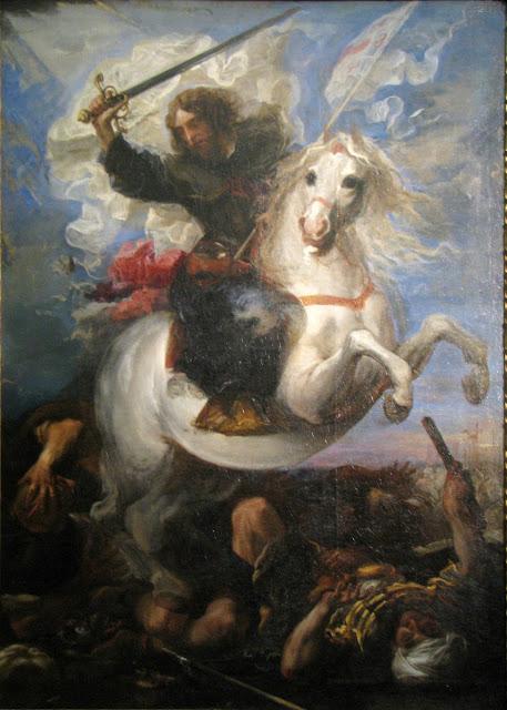 Carreno De Miranda, St Jas, Battle of Clavijo 1660 Buda